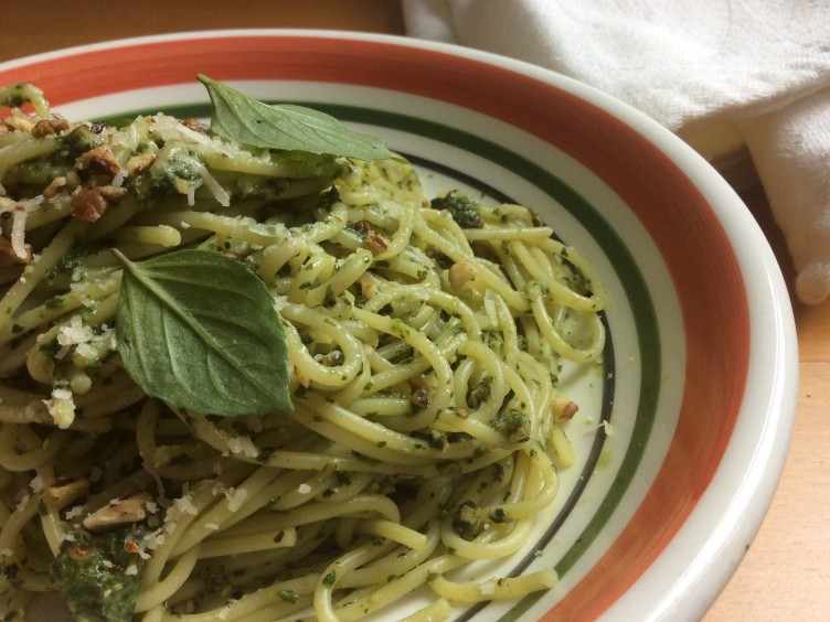 oil-free pesto pasta