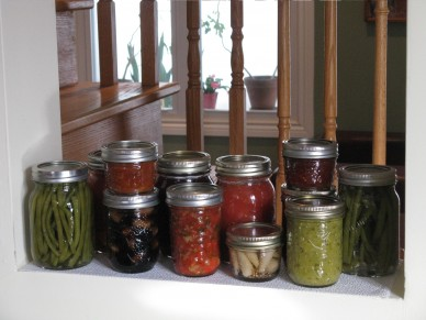 Fall harvest vegetable preserves