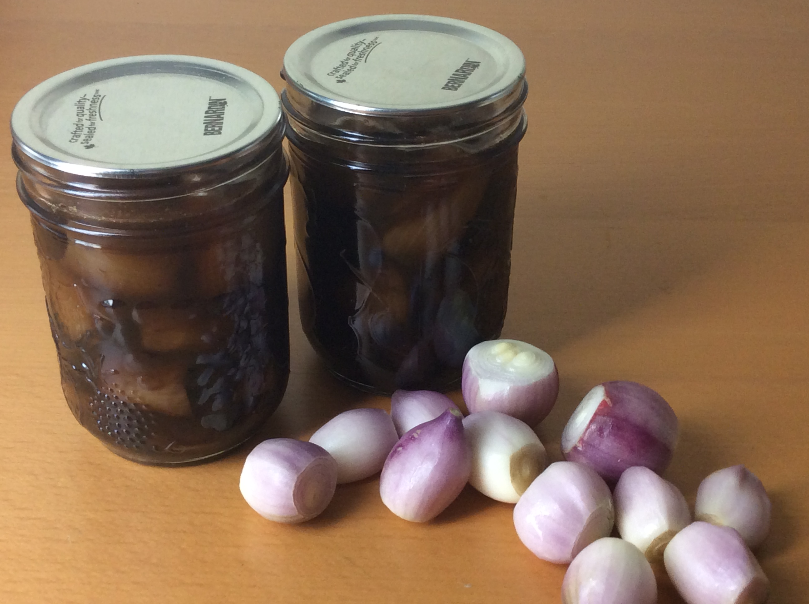 Pickled balsamic onions