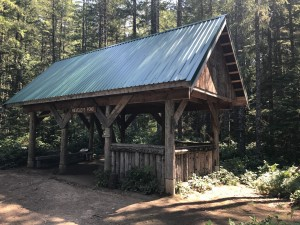 sunshine coast trail rieveley pond hut