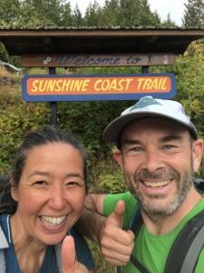 Sunshine Coast Trail finish