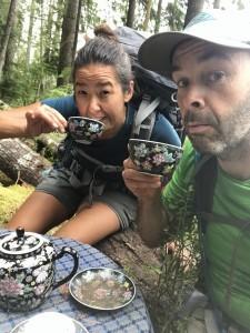 Sunshine Coast Trail tea time